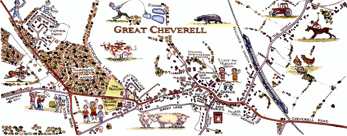 Great Cheverell Map by Bernard Willington